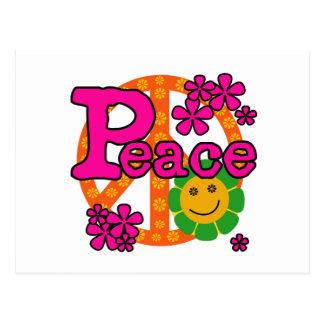 60s Style Peace Postcard