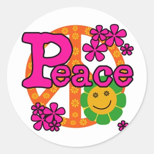 60s Style Peace Sticker