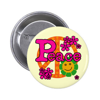60s Style Peace T-shirts and Gifts Buttons