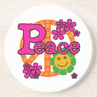 60s Style Peace T-shirts and Gifts Coaster