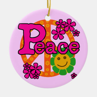 60s Style Peace T-shirts and Gifts Ornament