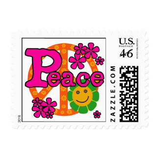 60s Style Peace T-shirts and Gifts Stamps
