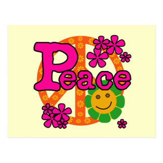 60s Style Peace T-shirts and Gifts Postcard