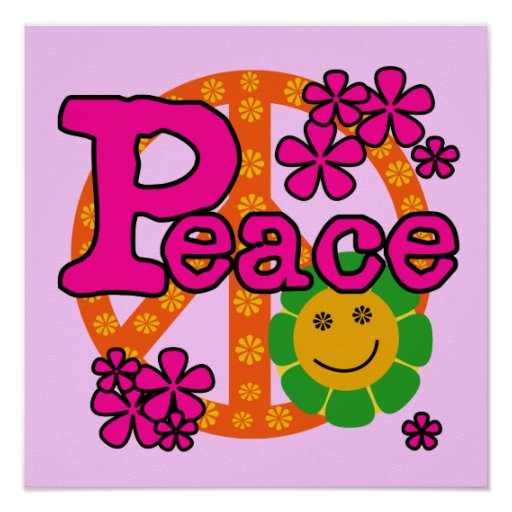 60s Style Peace T-shirts and Gifts Poster