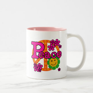60s Style Peace T-shirts and Gifts Two-Tone Coffee Mug