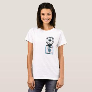 60s Style Vintage 127 Format Plastic Camera - Blue T-Shirt
