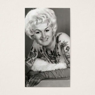 '60s Tattooed Lady Business Card