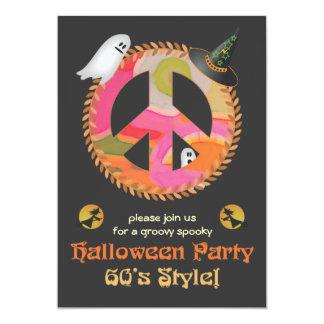 60's Theme Halloween Party Invitation