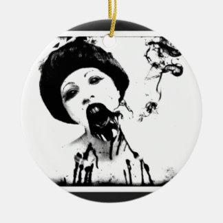 60s Zombie Ceramic Ornament