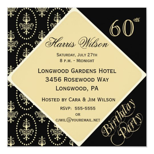 60th-69th Birthday Invitations