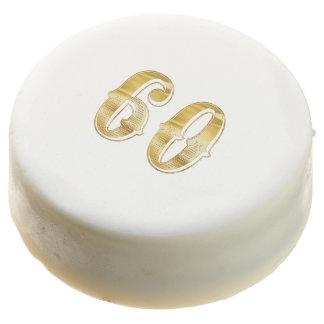 60th Anniversary 60 Birthday Wedding Gold White Chocolate Covered Oreo
