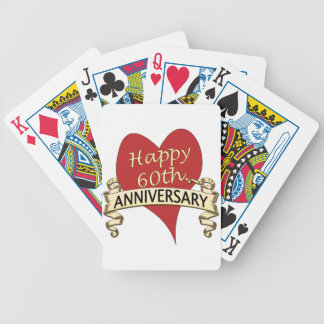 60th. Anniversary Bicycle Playing Cards