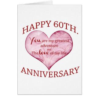 60th. Anniversary Card