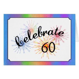 60th Anniversary Celebration Greeting Card