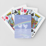 60th Anniversary Diamond Hearts Bicycle Playing Cards