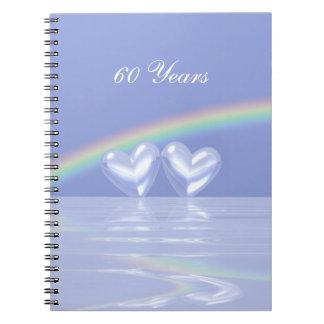 60th Anniversary Diamond Hearts Spiral Notebook