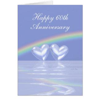60th Anniversary Diamond Hearts (Tall) Card