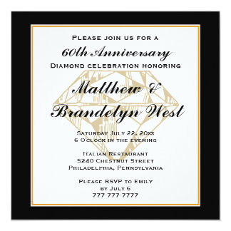 60th Anniversary Invitations & Announcements | Zazzle