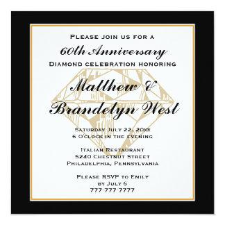 60th Anniversary Diamond Invitation