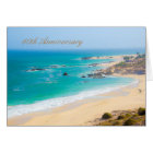 60th Anniversary Greeting Card with Beach Shore