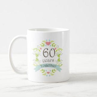 60th Anniversary Keepsake Beverage Classic White Coffee Mug