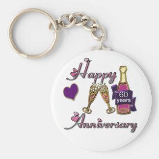 60th. Anniversary Keychain