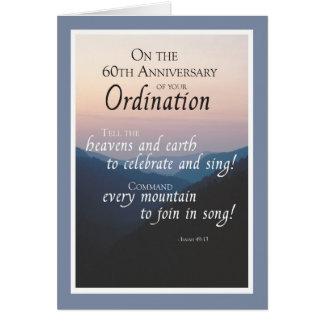 60th Anniversary of Ordination Congratulations Card