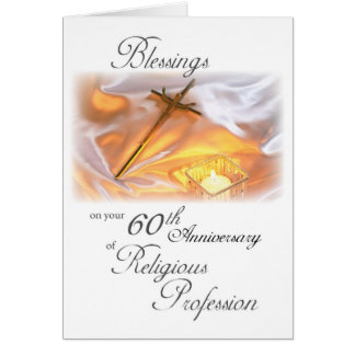 60th Anniversary of Religious Life, for a Nun Card