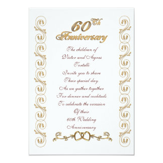 60th anniversary party for parents card