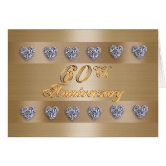 60th anniversary party invitation diamonds greeting card