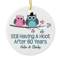 60th Anniversary Personalized Gift Idea Ceramic Ornament