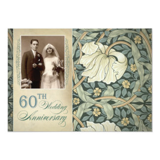 60th anniversary photo invitations