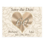 60th Anniversary Save the Date Post Cards
