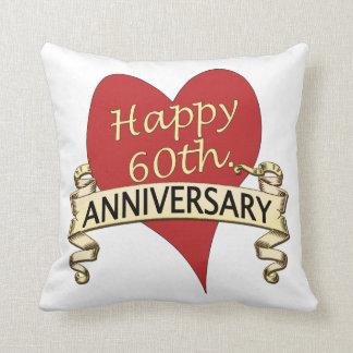 60th. Anniversary Throw Pillow