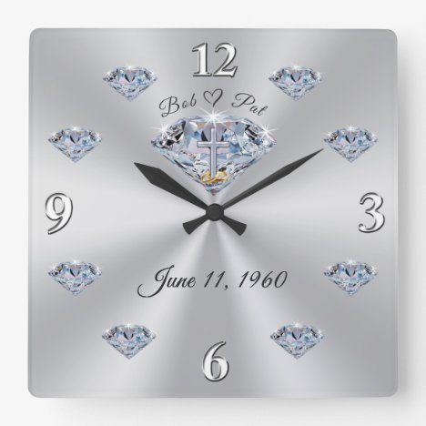 60th Anniversary Wall Clock for Bob and Pat