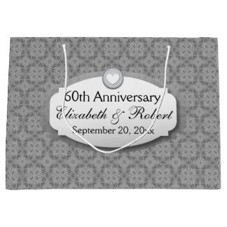60th Anniversary Wedding Anniversary Diamond Z01 Large Gift Bag