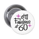 60th Birthday 2 Inch Round Button