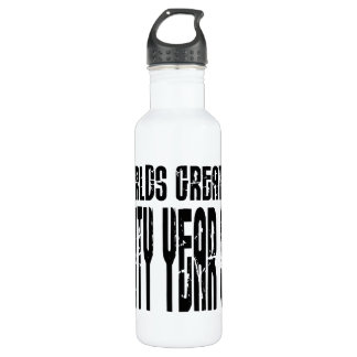 60th Birthday 60 World's Greatest Sixty Year Old 24oz Water Bottle