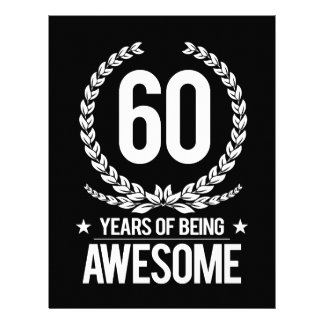 60th Birthday (60 Years Of Being Awesome) Letterhead