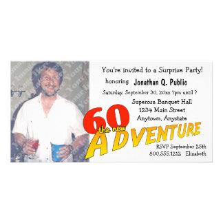 60th Birthday Adventure Party Photo Invitation