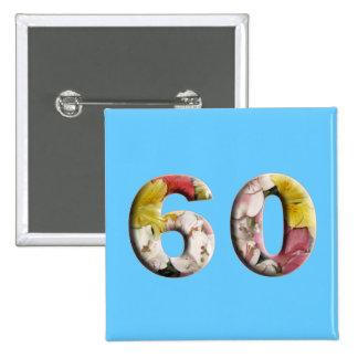 60th Birthday Anniversary 60 Years Milestone Pin