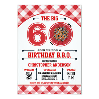 60th Birthday Barbecue Invitation