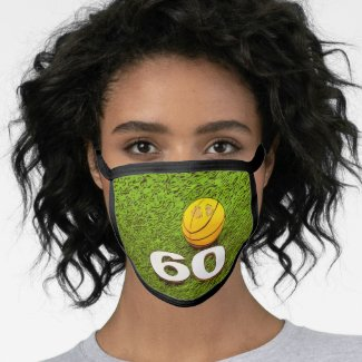 60th Birthday  Basketball All-Over Print Face Mask