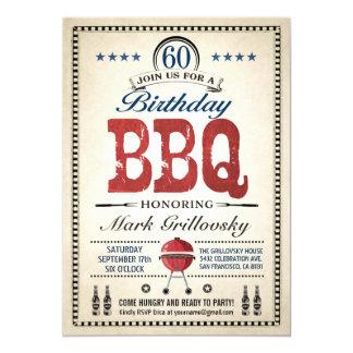 60th Birthday BBQ Invitations