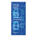 """60th Birthday Big Six Oh Blue Confetti W363 4"""" X 9.25"""" Invitation Card"""