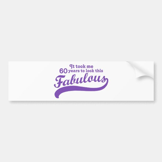 60th Birthday Bumper Sticker