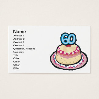 60th Birthday Business Card