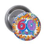 60th Birthday Button
