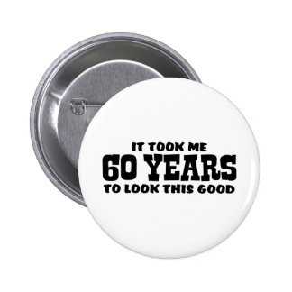 60th Birthday Button