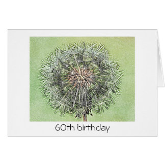 60th Birthday Card - Dandelion